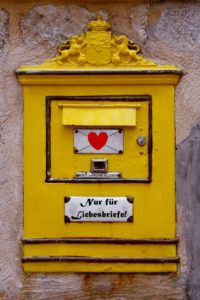mailbox, love letters, heart